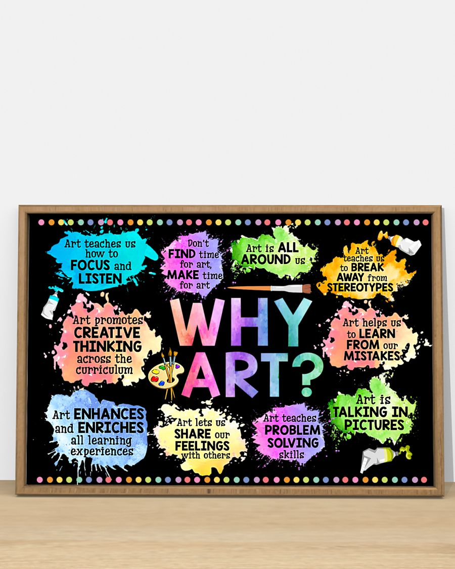 why art welcome to art classroom poster 2