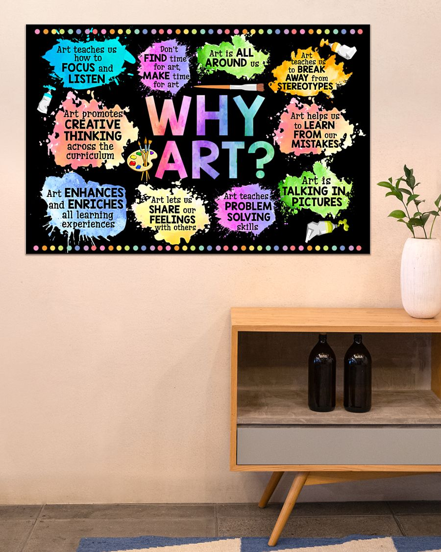 why art welcome to art classroom poster 3