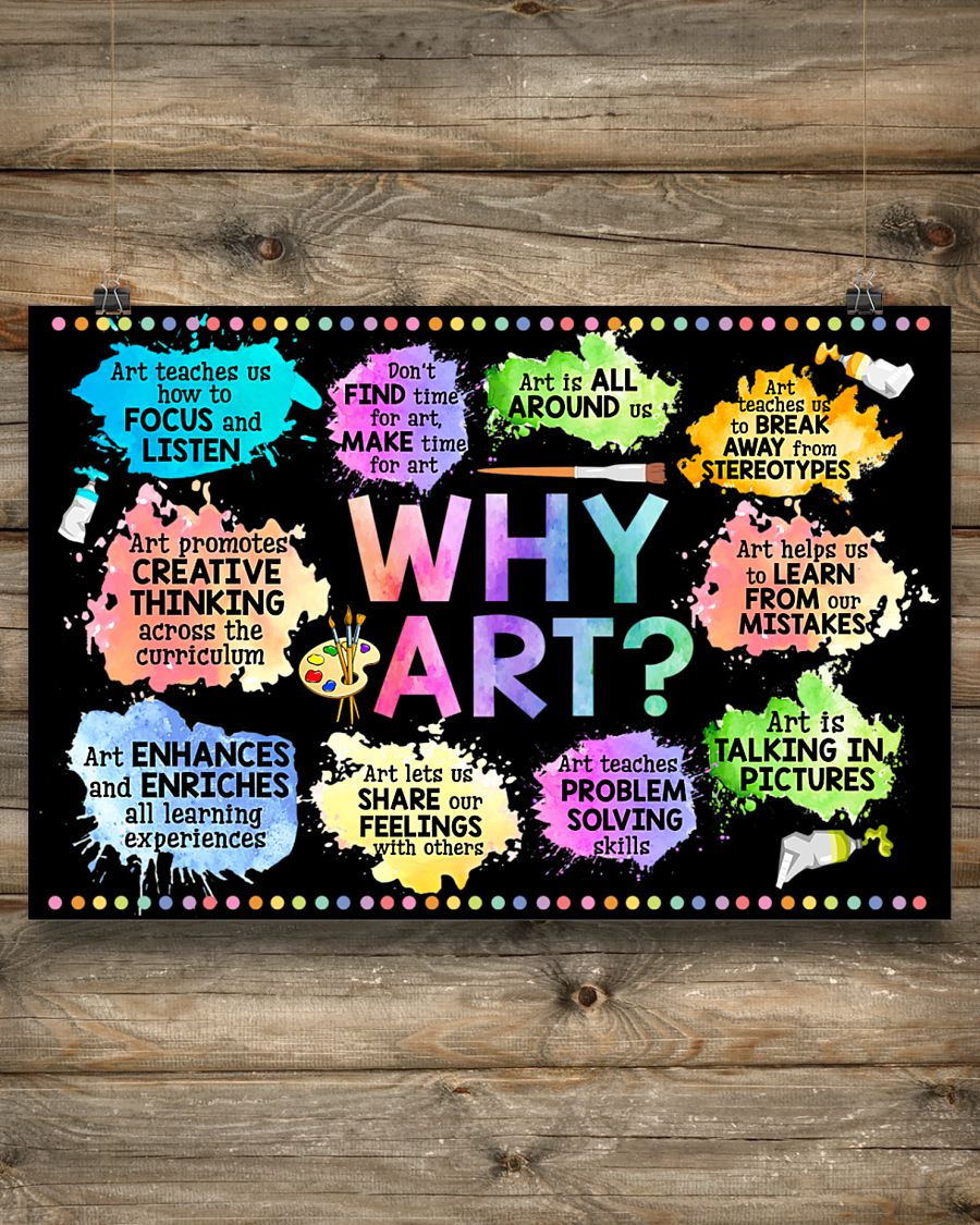why art welcome to art classroom poster 4