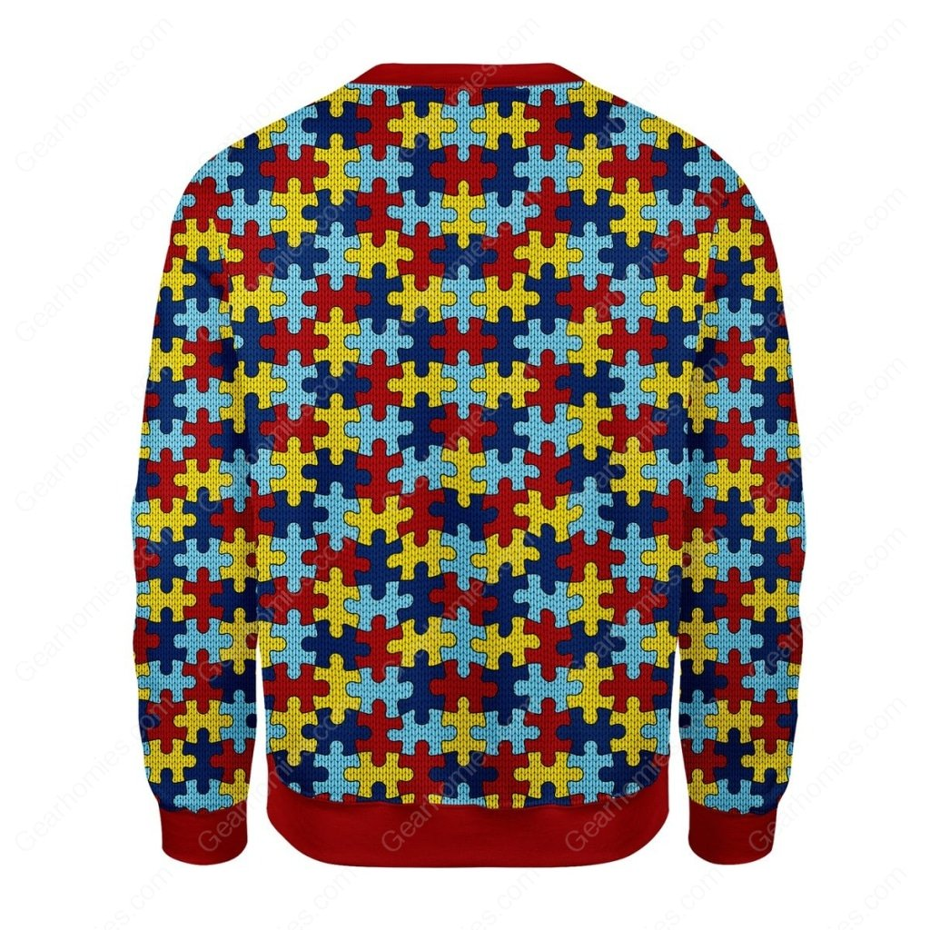world autism awareness day all over printed ugly christmas sweater 4