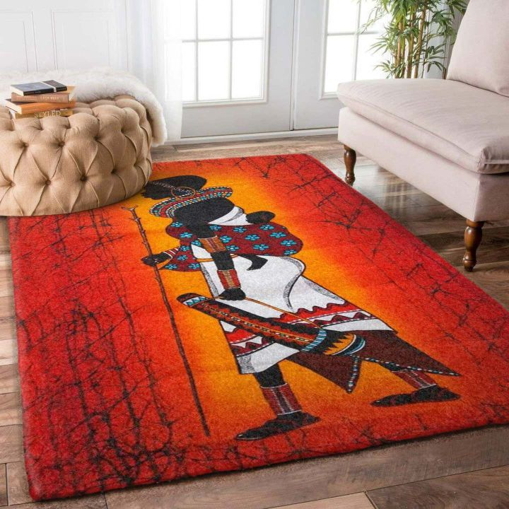 african symbols all over printed rug 3