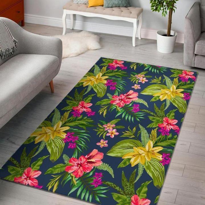 aloha hawaiian flowers all over printed rug 5
