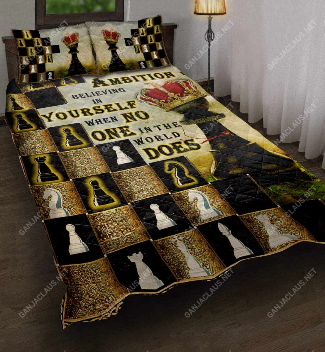 ambition is believing in yourself chess full printing bedding set 3