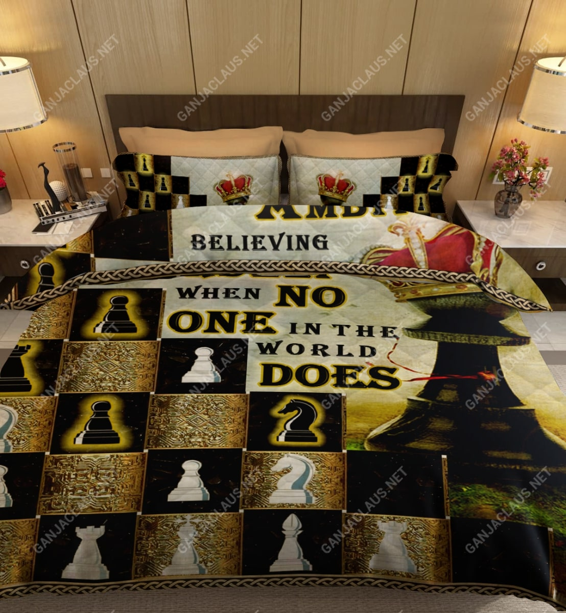 ambition is believing in yourself chess full printing bedding set 5