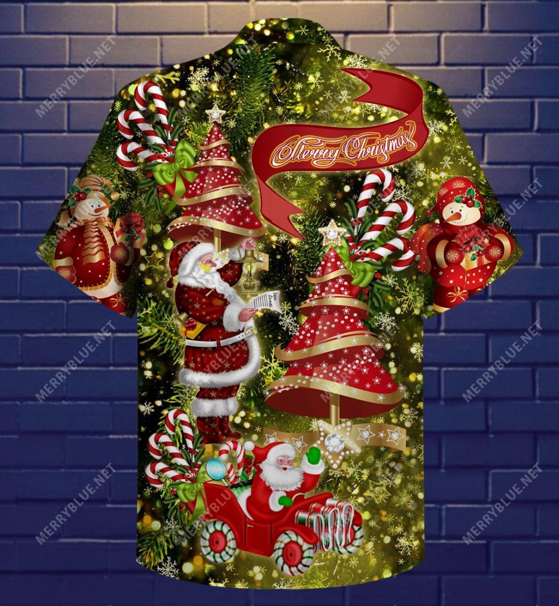 believe in magic of christmas full printing hawaiian shirt 4