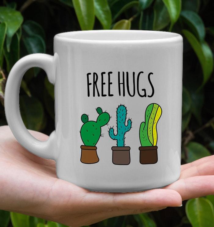 cactus free hugs mug 2