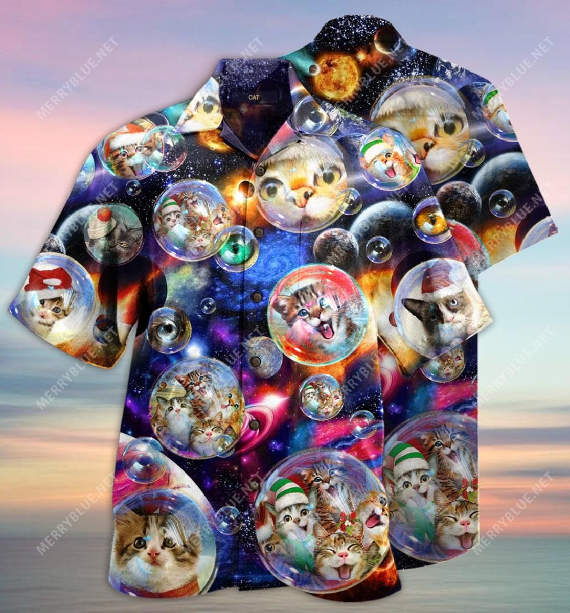 christmas bubble cats full printing hawaiian shirt 2