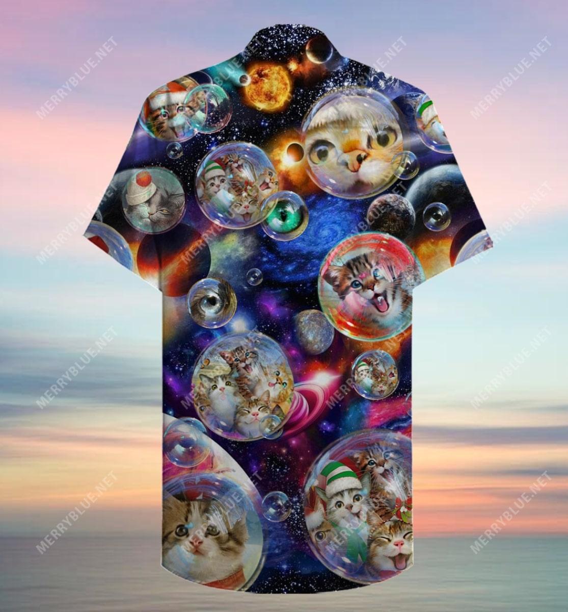 christmas bubble cats full printing hawaiian shirt 4