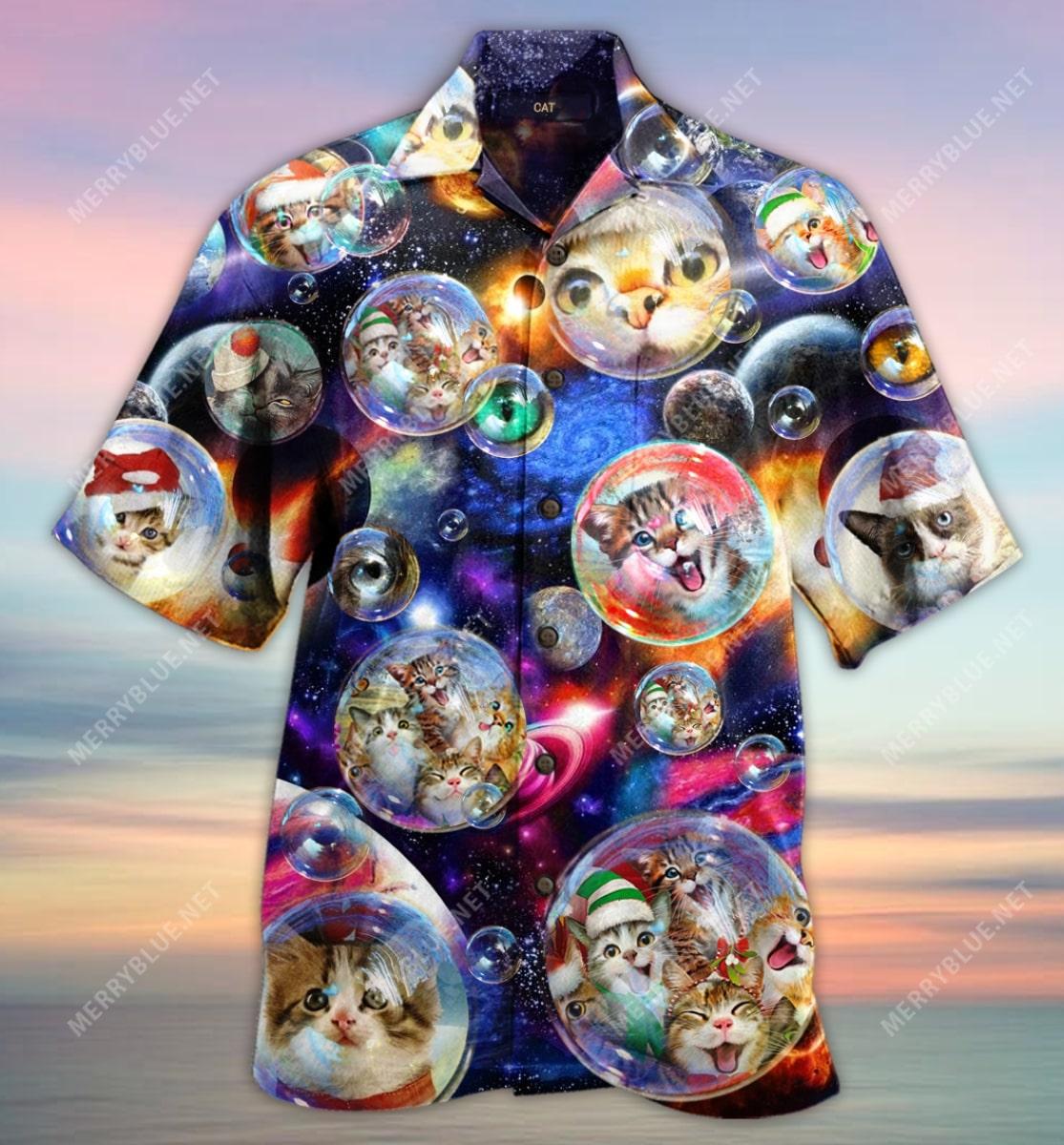 christmas bubble cats full printing hawaiian shirt 5