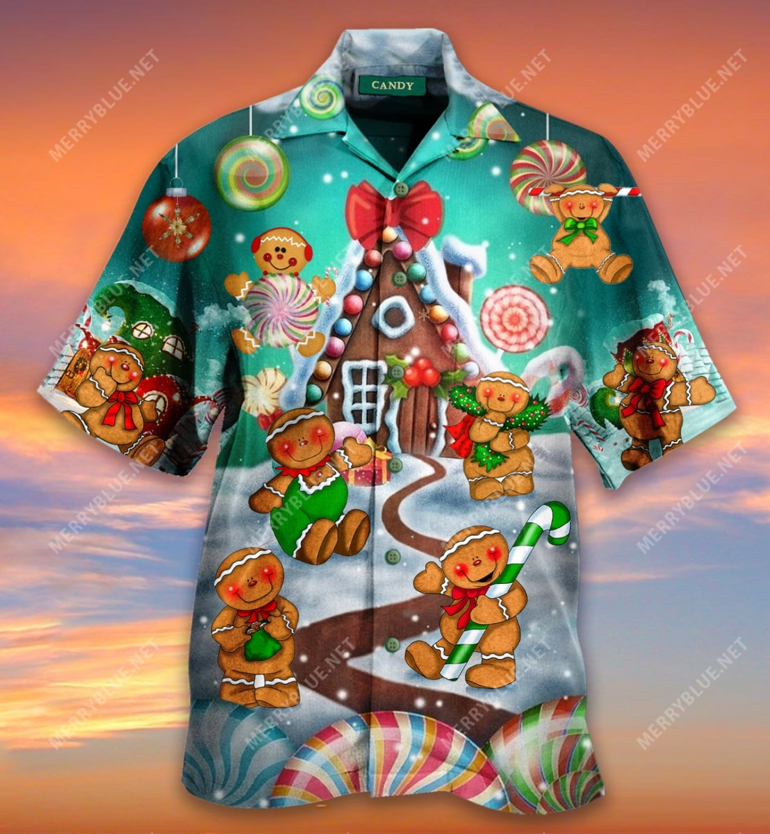 christmas gingerbread cookies full printing hawaiian shirt 4