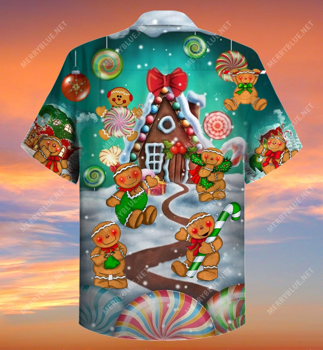 christmas gingerbread cookies full printing hawaiian shirt 5