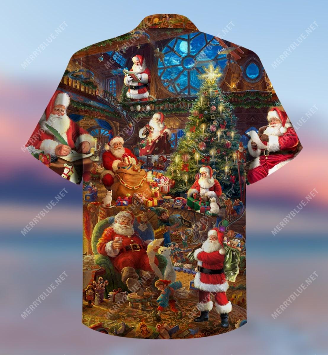 christmas house of santa claus full printing hawaiian shirt 4