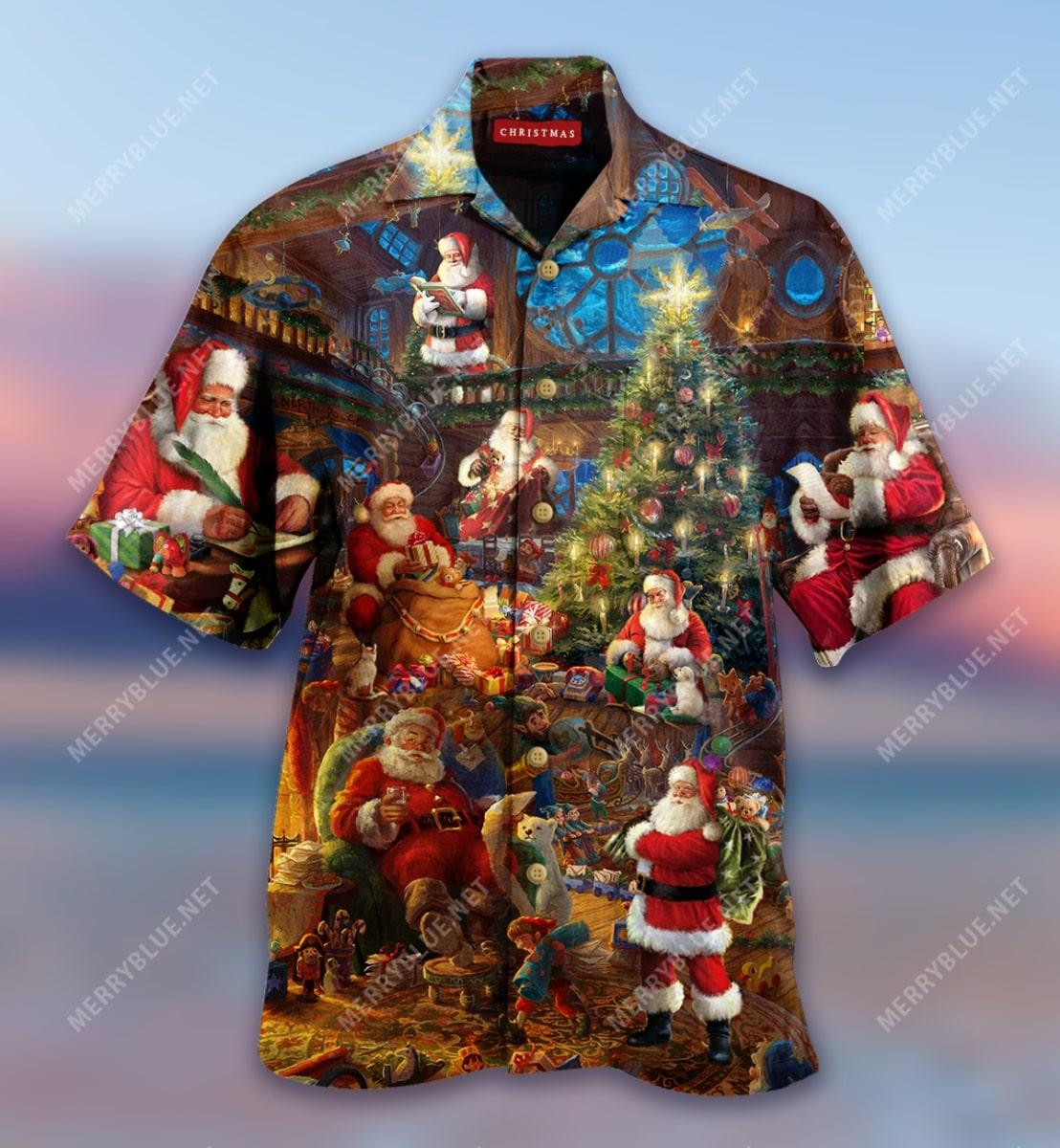 christmas house of santa claus full printing hawaiian shirt 5