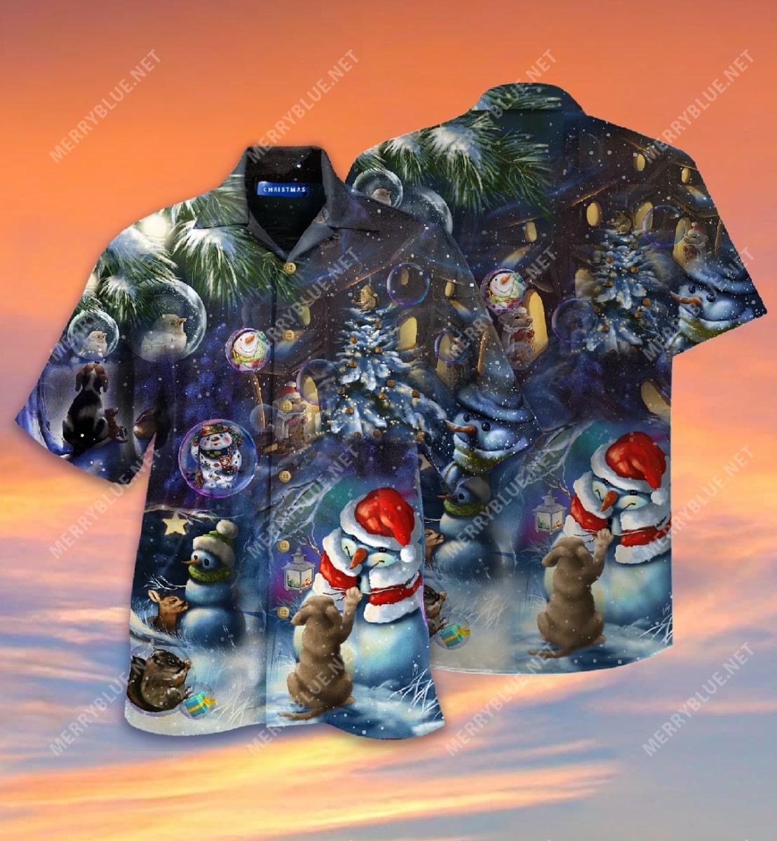 christmas in the wood full printing hawaiian shirt 3