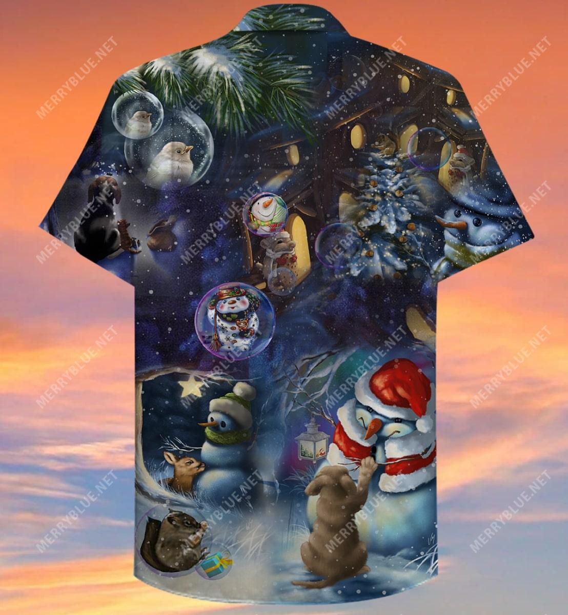 christmas in the wood full printing hawaiian shirt 4