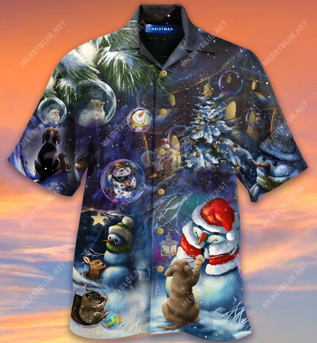 christmas in the wood full printing hawaiian shirt 5