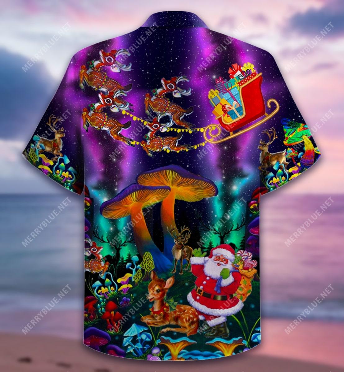 christmas mushroom full printing hawaiian shirt 5