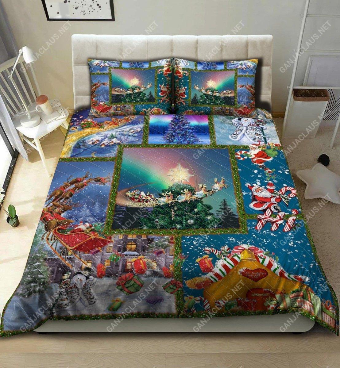 christmas night full printing bedding set 2