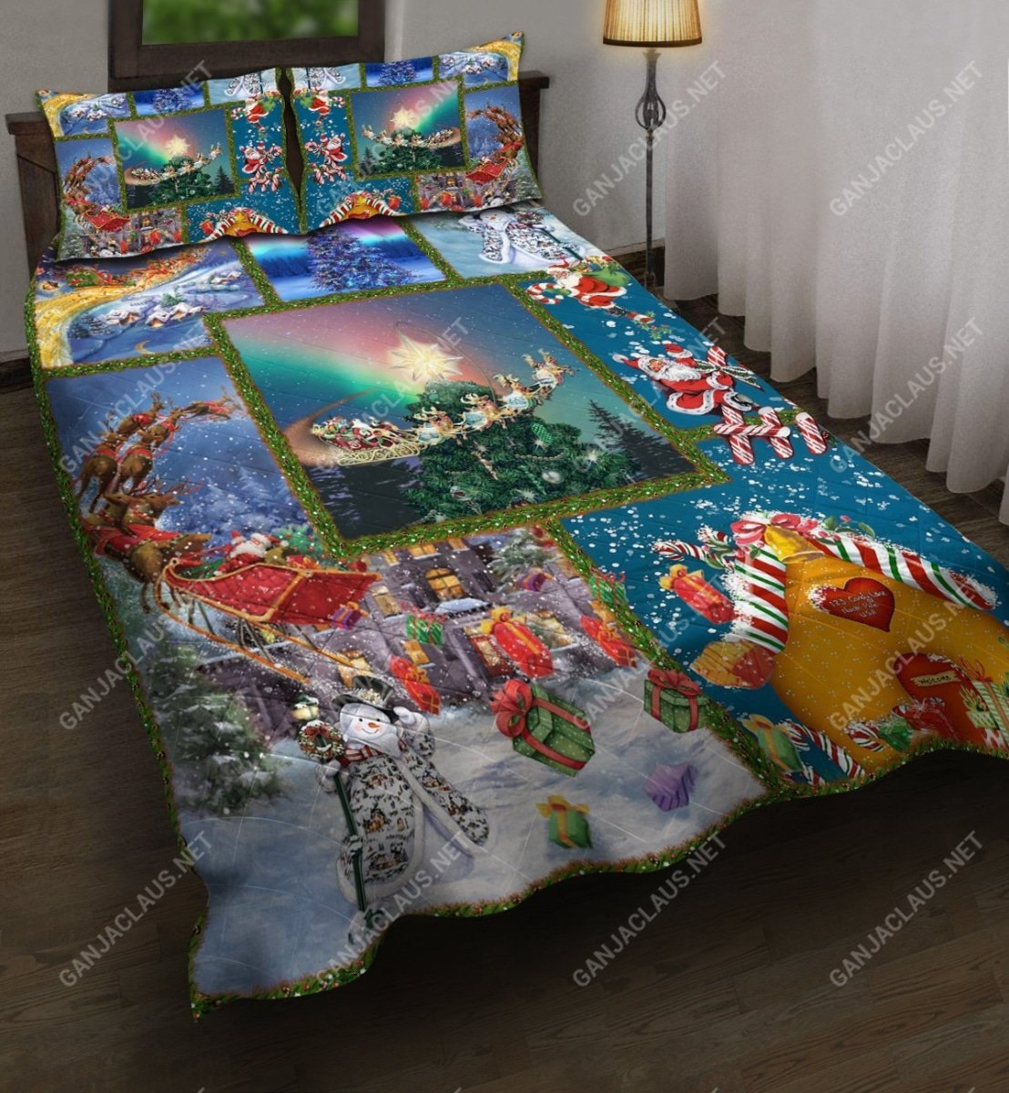 christmas night full printing bedding set 3