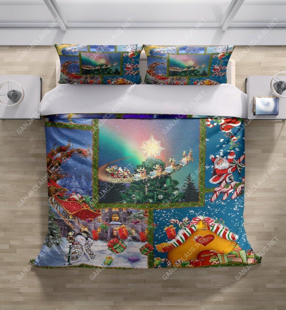 christmas night full printing bedding set 5