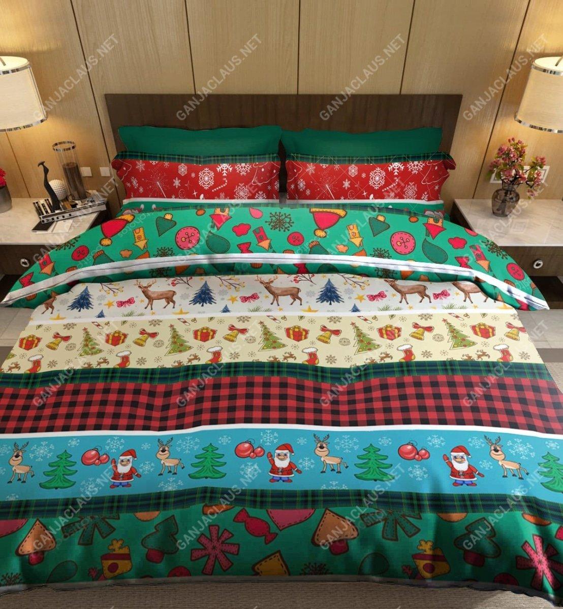 christmas patterns full printing bedding set 3