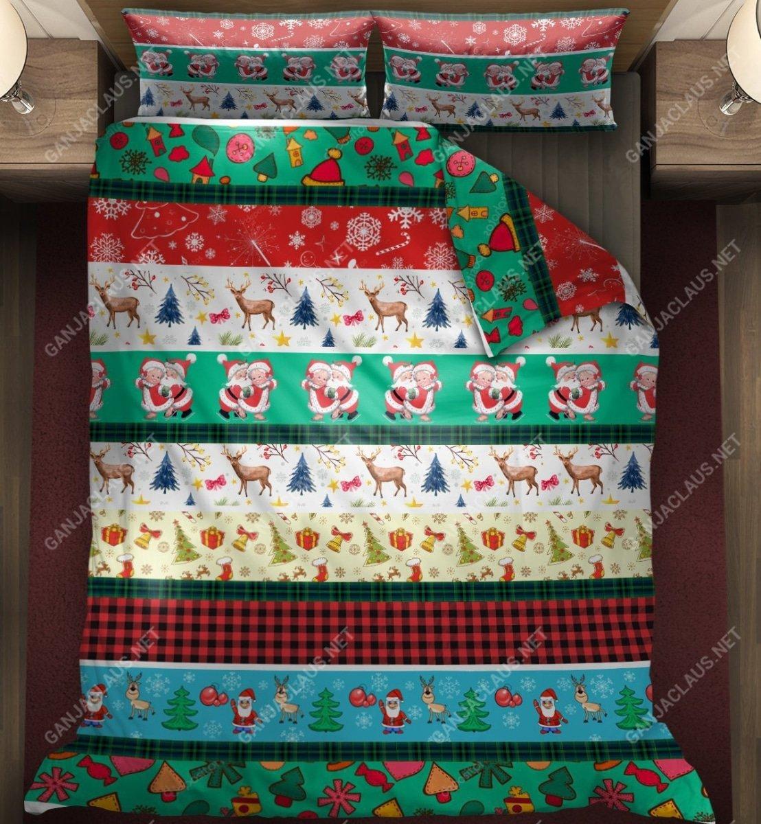 christmas patterns full printing bedding set 4