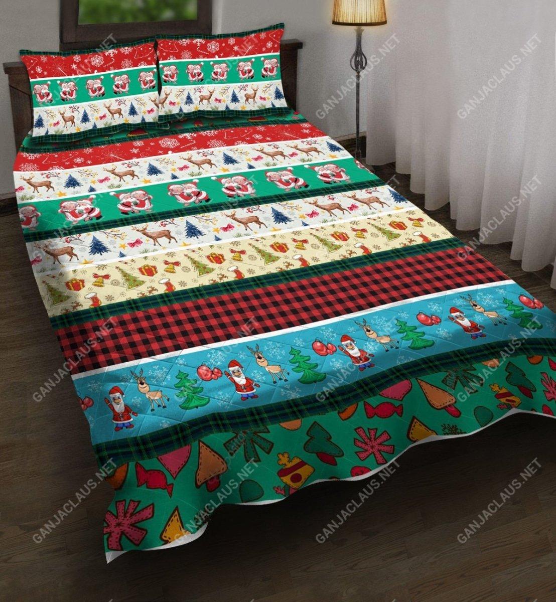 christmas patterns full printing bedding set 5