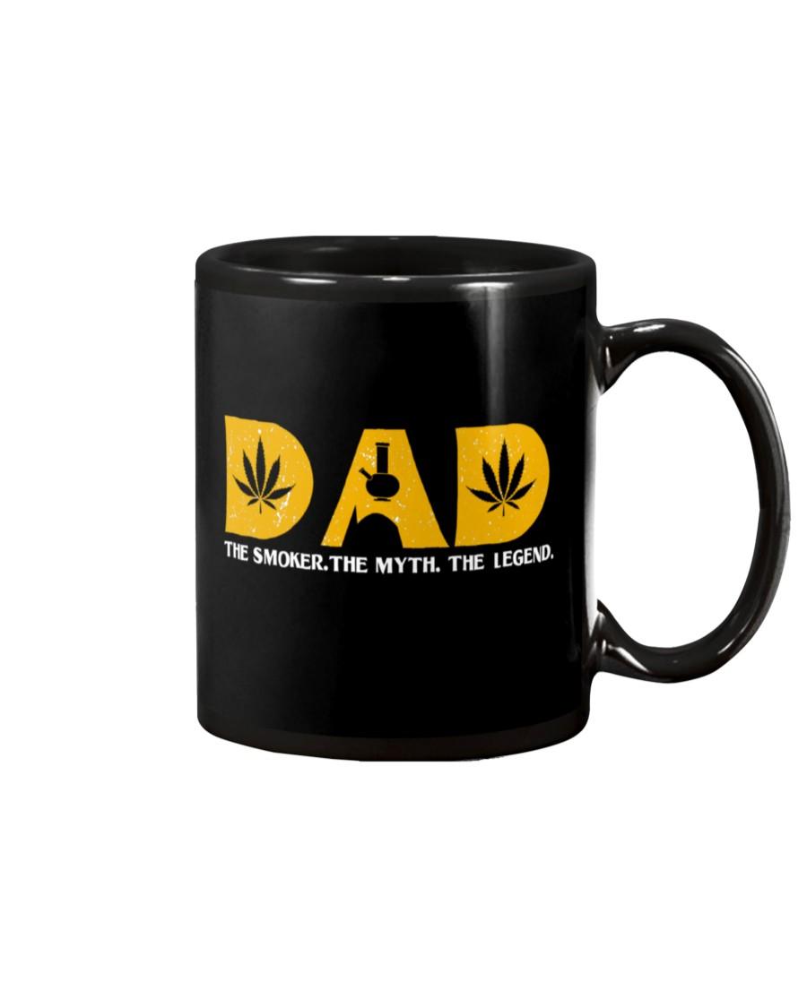 dad weed leaf the smoker the myth the legend mug 2