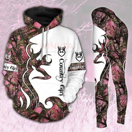 deer hunting country girl full over printed shirt 5