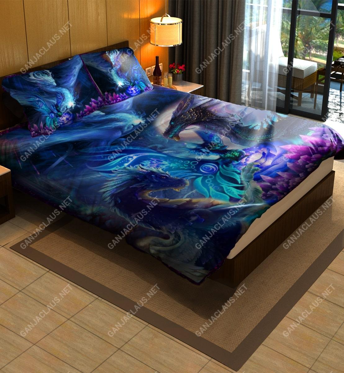 dragon night full printing bedding set 3