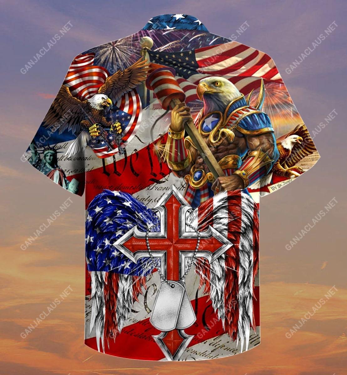 eagles patriotism america flag full printing hawaiian shirt 4
