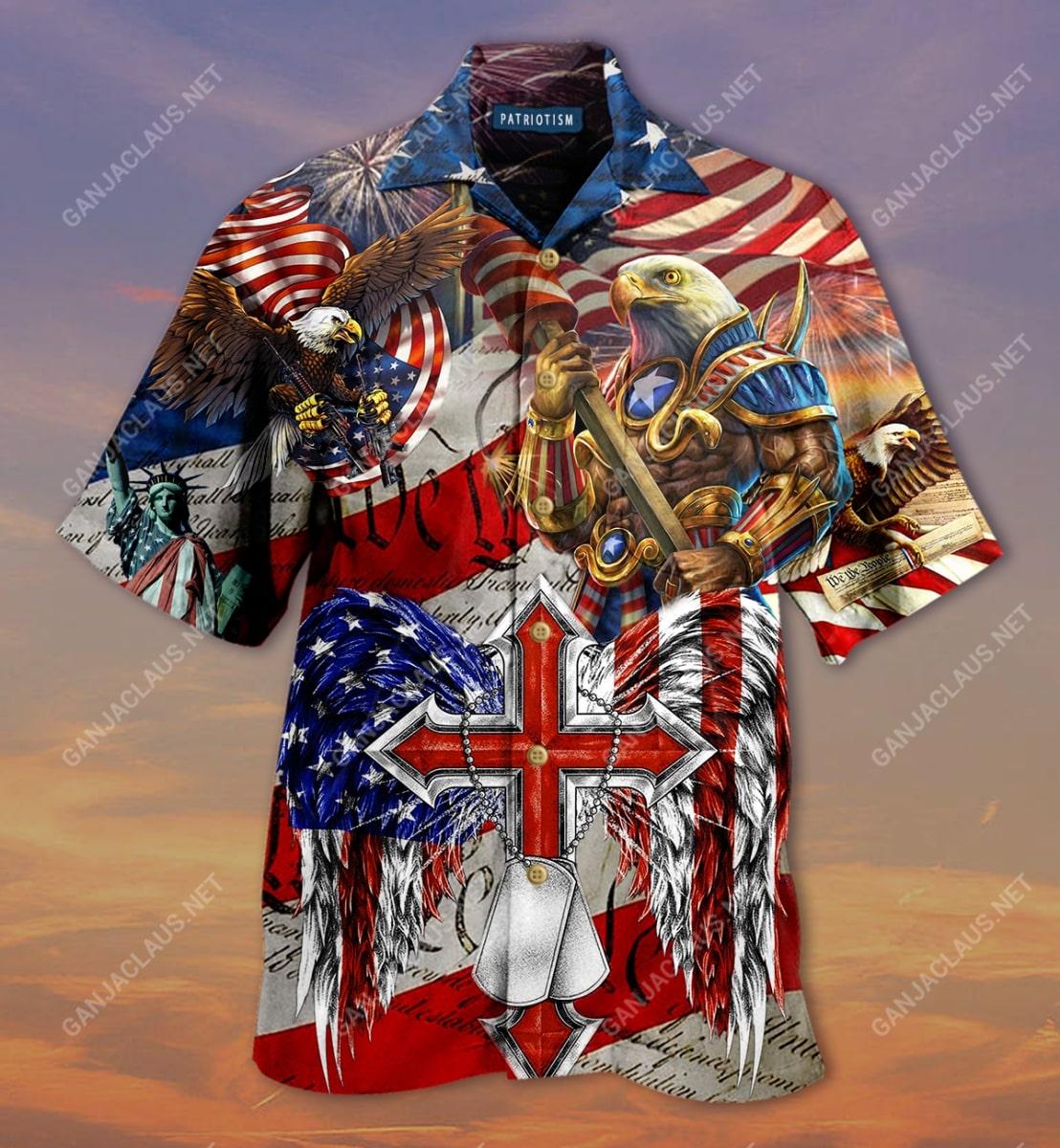 eagles patriotism america flag full printing hawaiian shirt 5