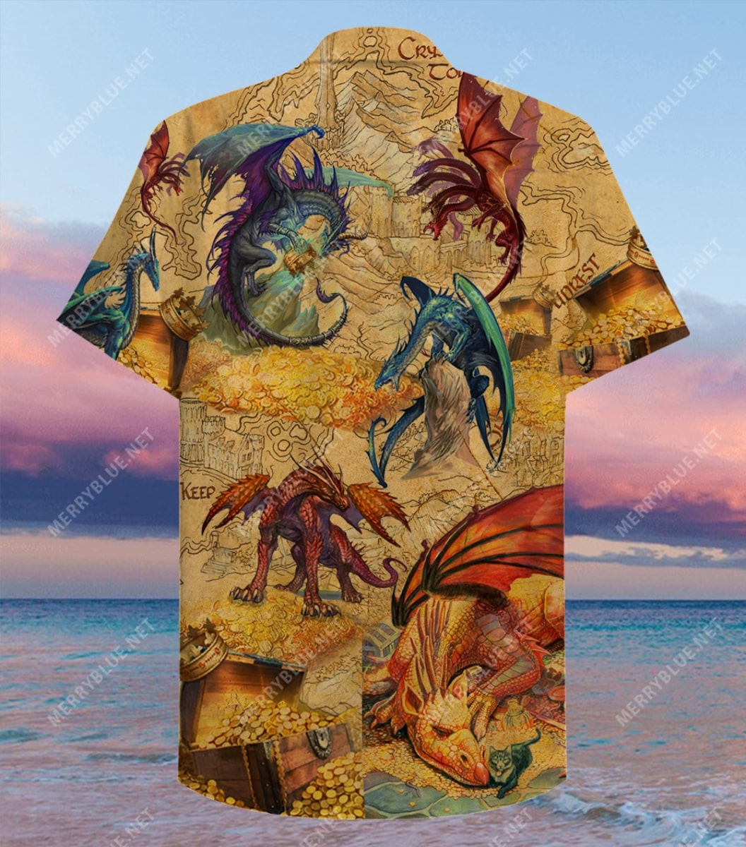 every treasure is guarded by dragons full printing hawaiian shirt 3