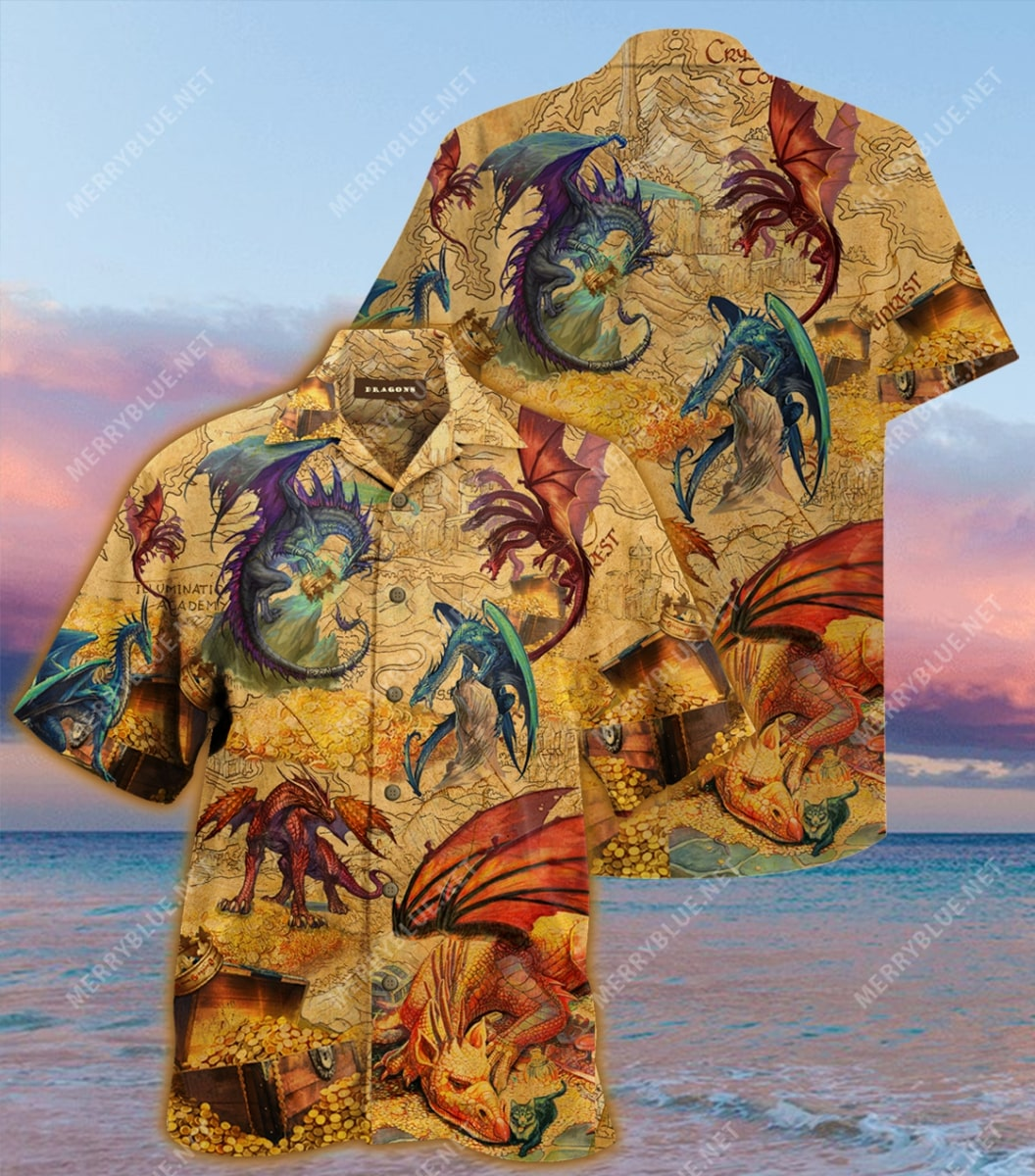 every treasure is guarded by dragons full printing hawaiian shirt 4