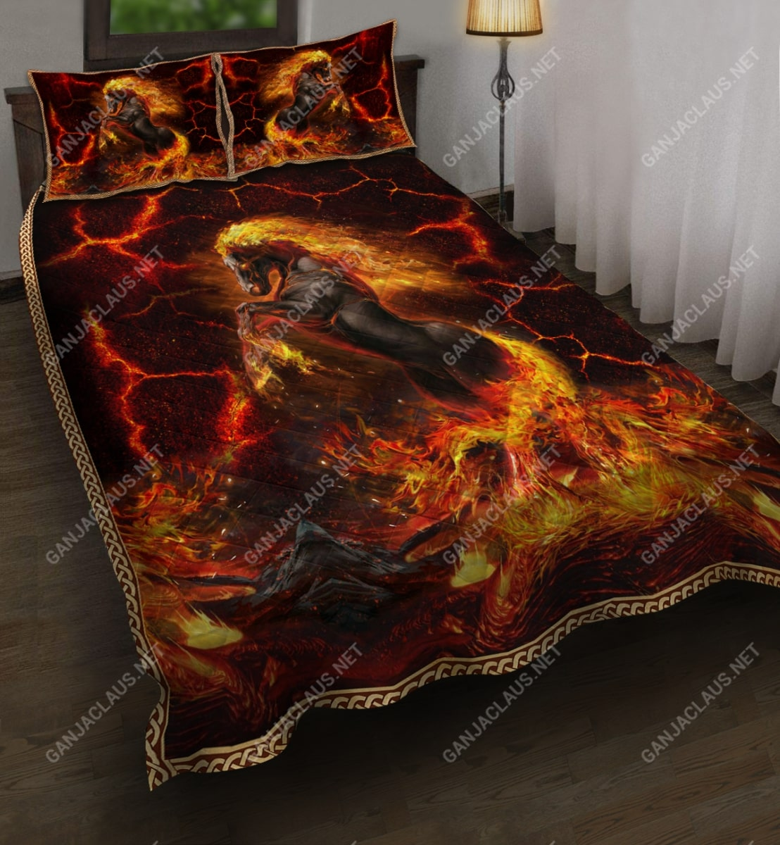 horses and fire full printing bedding set 5