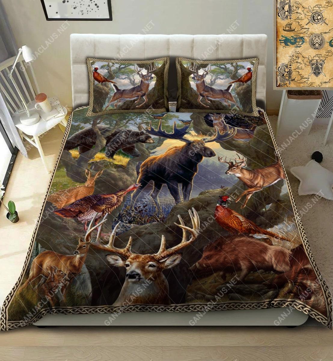 hunting deer full printing bedding set 2