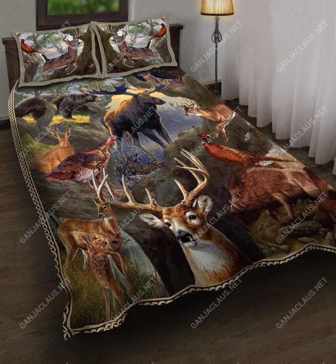 hunting deer full printing bedding set 5