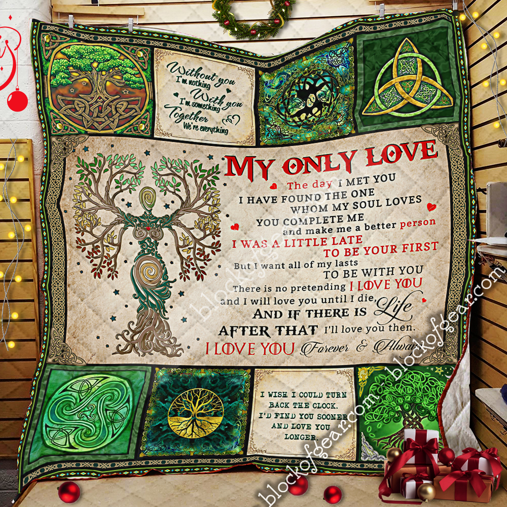 husband and wife tree of life irish tree of life st patricks day all over printed quilt 2