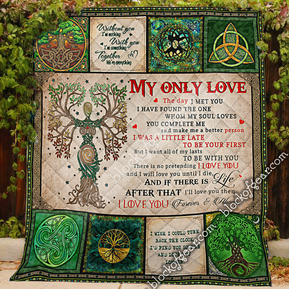 husband and wife tree of life irish tree of life st patricks day all over printed quilt 3