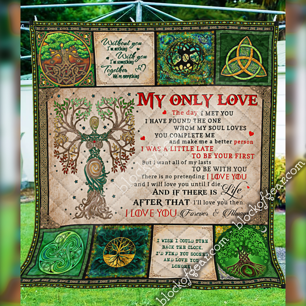 husband and wife tree of life irish tree of life st patricks day all over printed quilt 5