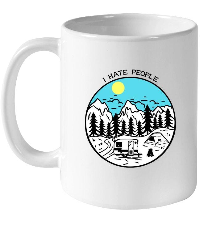 i hate people camping mug 4