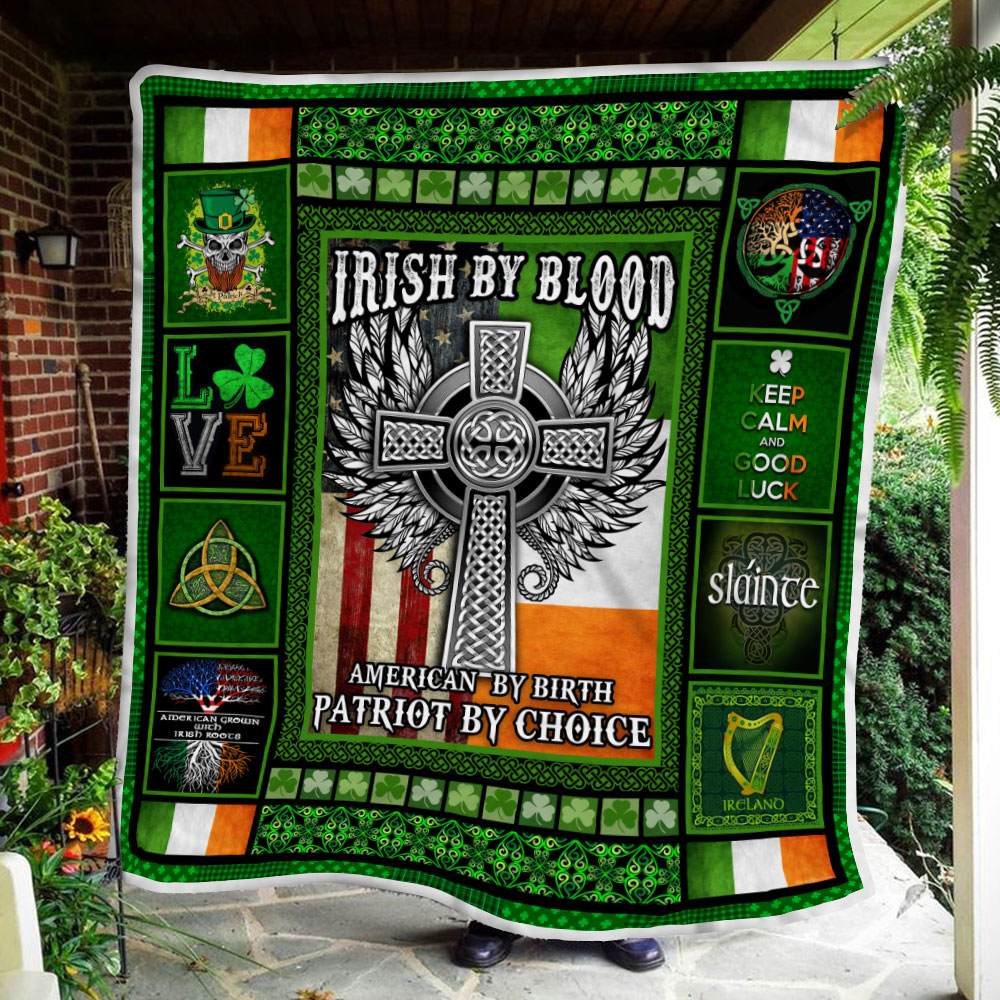 irish by blood american by birth patriot by choice all over printed blanket 4