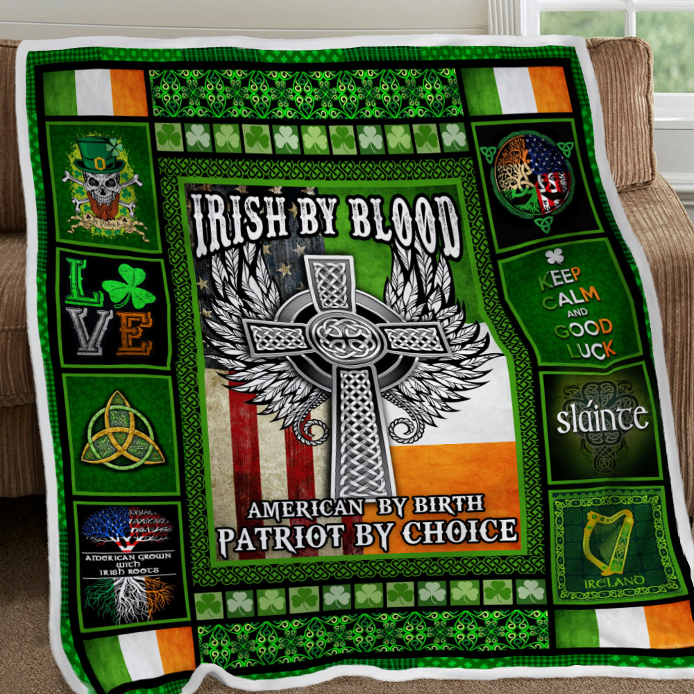 irish by blood american by birth patriot by choice all over printed blanket 5