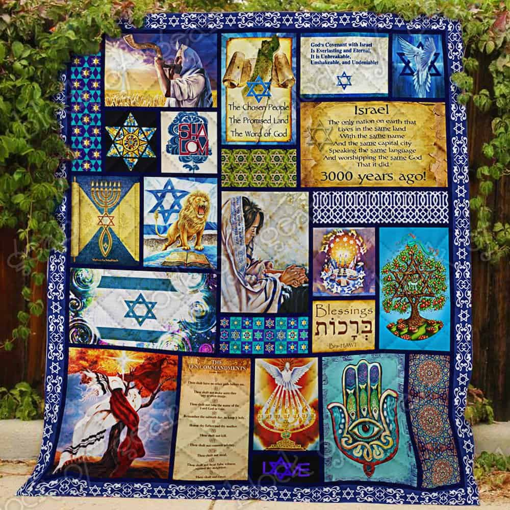 israel in my heart keep your believe all over printed quilt 2