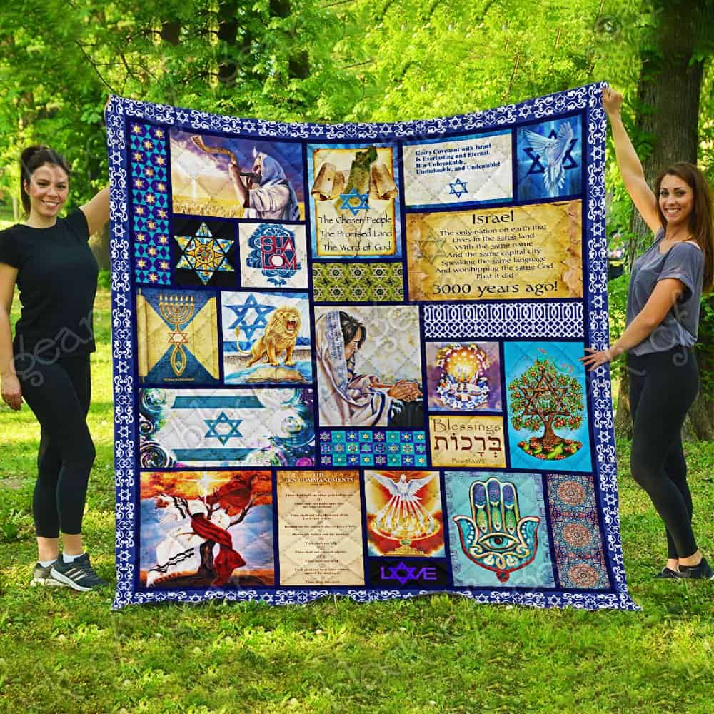 israel in my heart keep your believe all over printed quilt 3