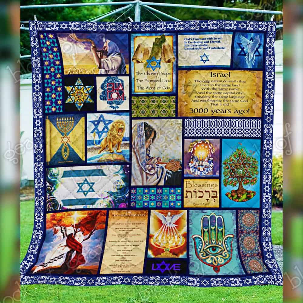 israel in my heart keep your believe all over printed quilt 4
