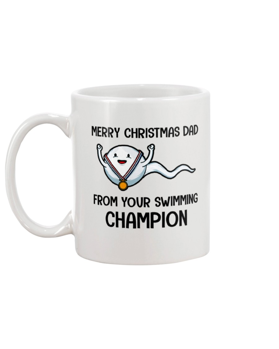 merry christmas dad from your swimming champion mug 5