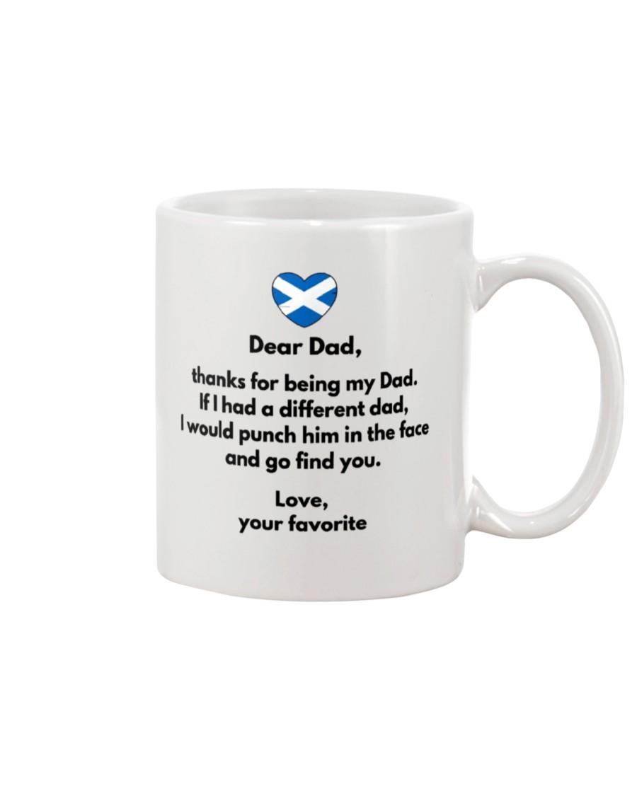 scotland flag dear dad thanks for being my dad mug 3