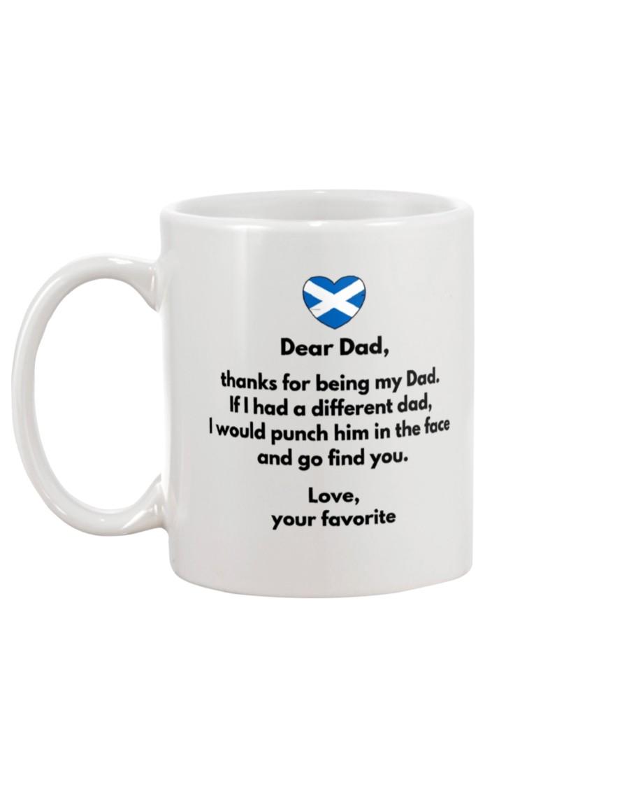 scotland flag dear dad thanks for being my dad mug 5