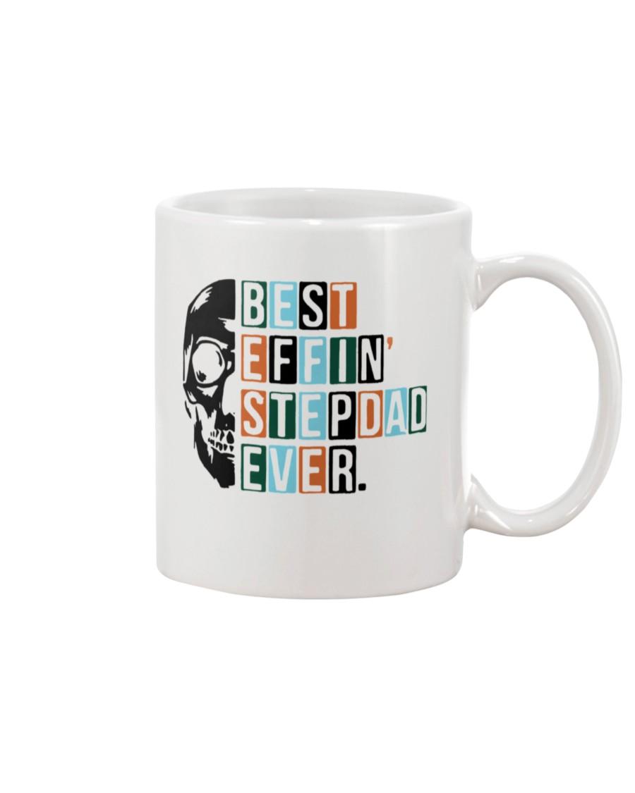skull best effin stepdad ever mug 3